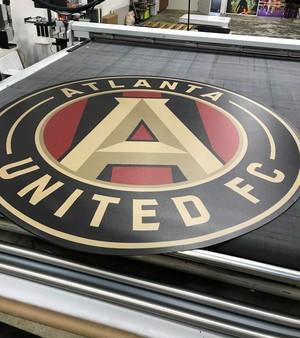 Atlanta United FC logo printout