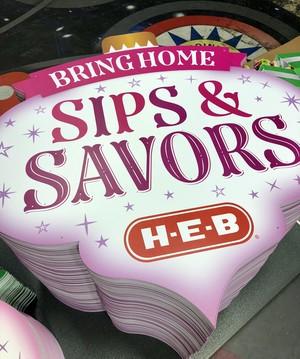 HEB Retail Sips Savors