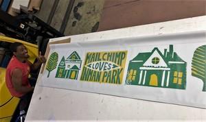 Inman Park Festival Signage Retail Display