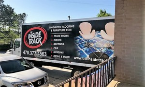 The Inside Track Retail Display Vehicle Wrap