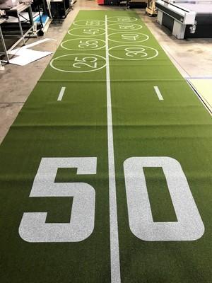 Sleep number Super Bowl instore grand format custom flooring